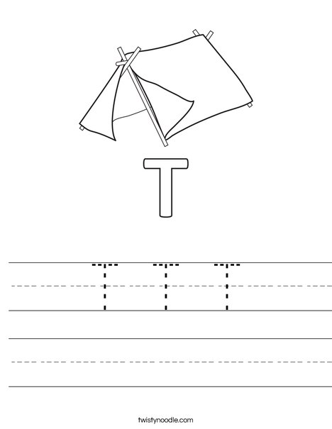 T Tent Worksheet