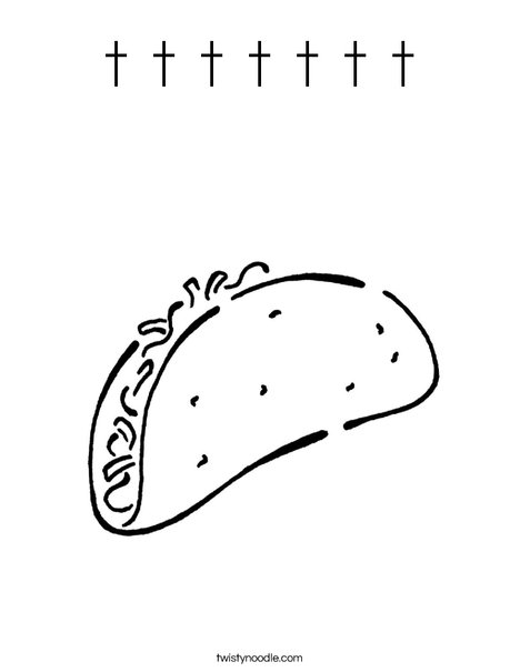 Taco Coloring Page