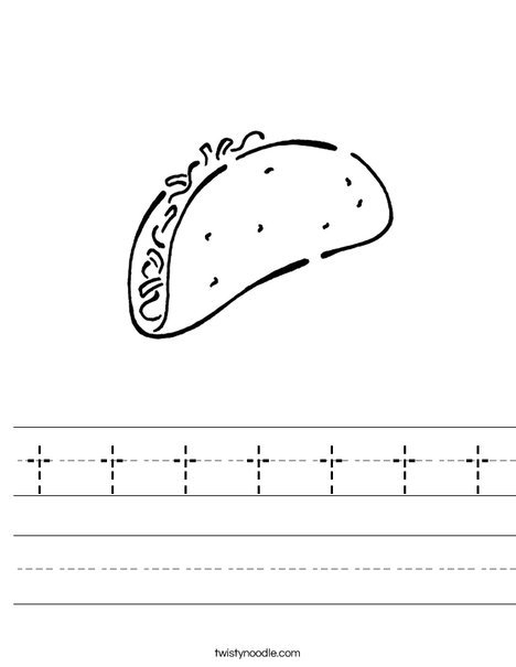 Taco Worksheet