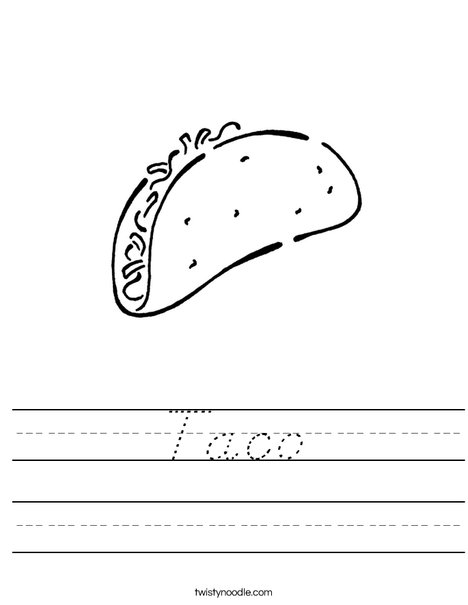 Taco Worksheet