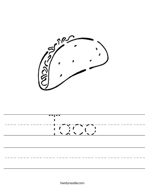 taco coloring pages for kids - photo #21