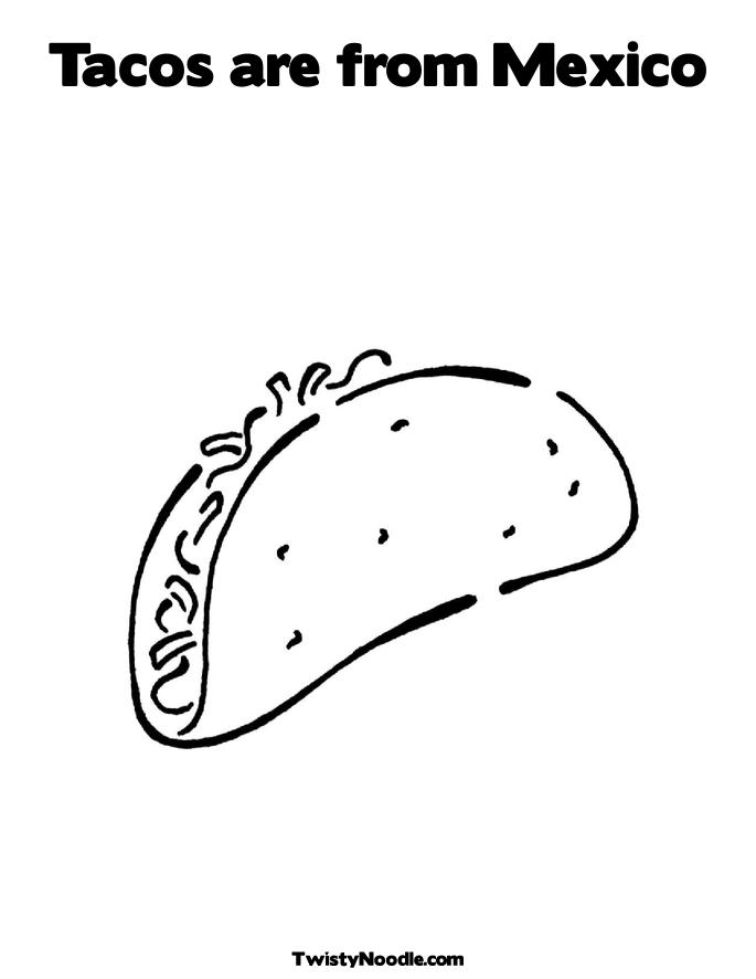 dancing taco coloring pages - photo#9