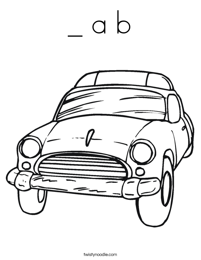 _ a b Coloring Page