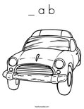_ a bColoring Page