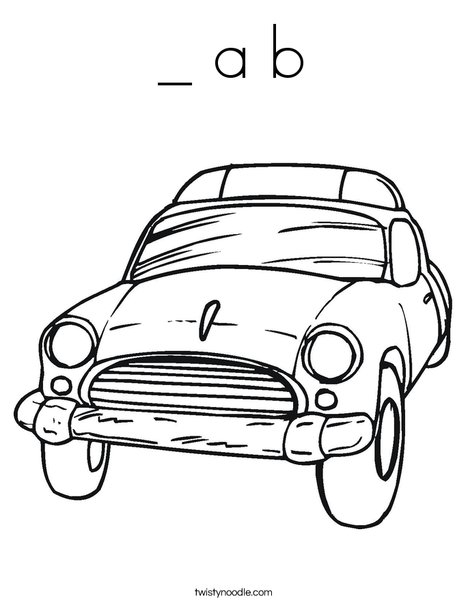 A B Coloring Page