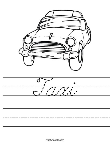 Taxi Worksheet