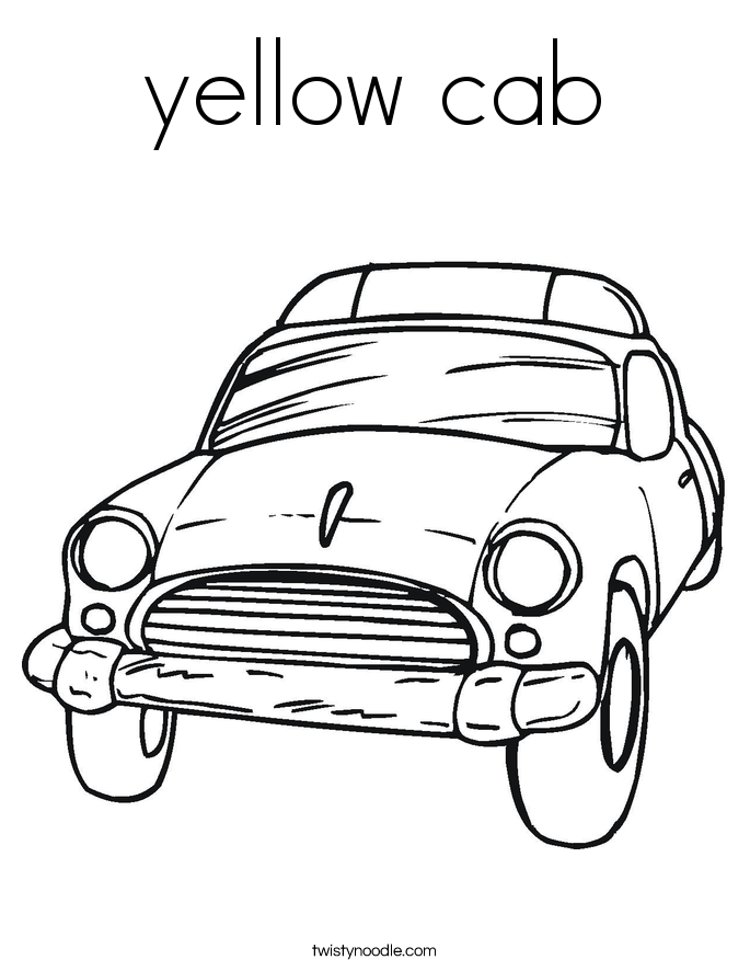 yellow cab Coloring Page