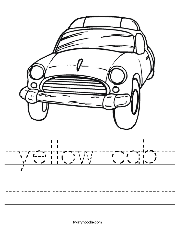 yellow cab Worksheet
