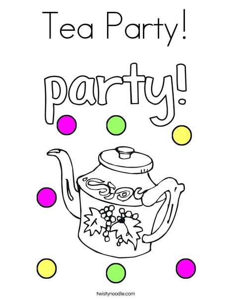 Tea Party Coloring Page - Twisty Noodle