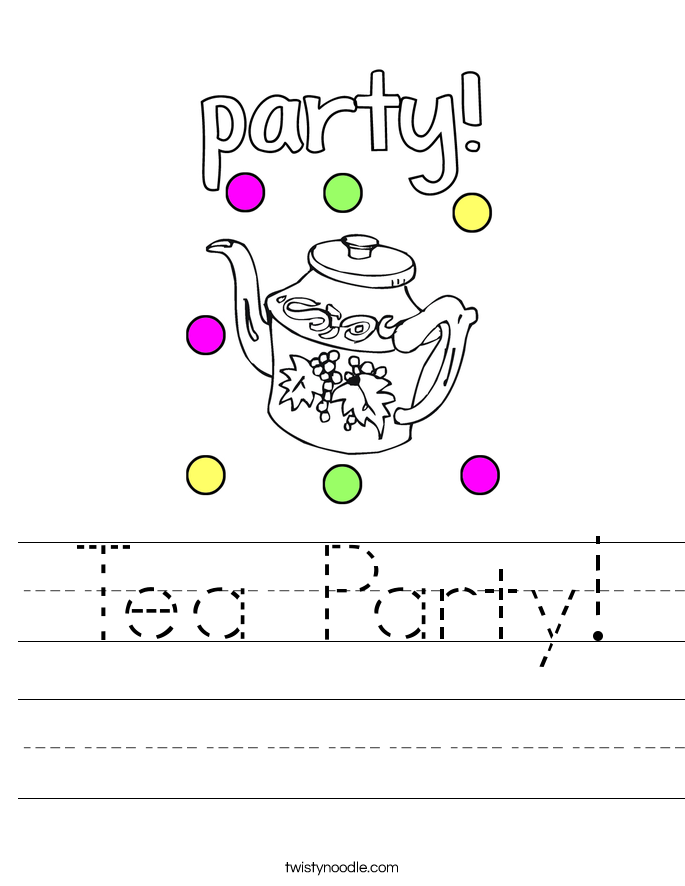 Tea Party! Worksheet