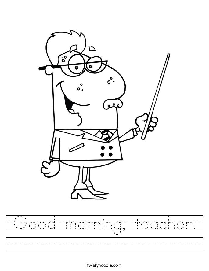 Good morning, teacher! Worksheet