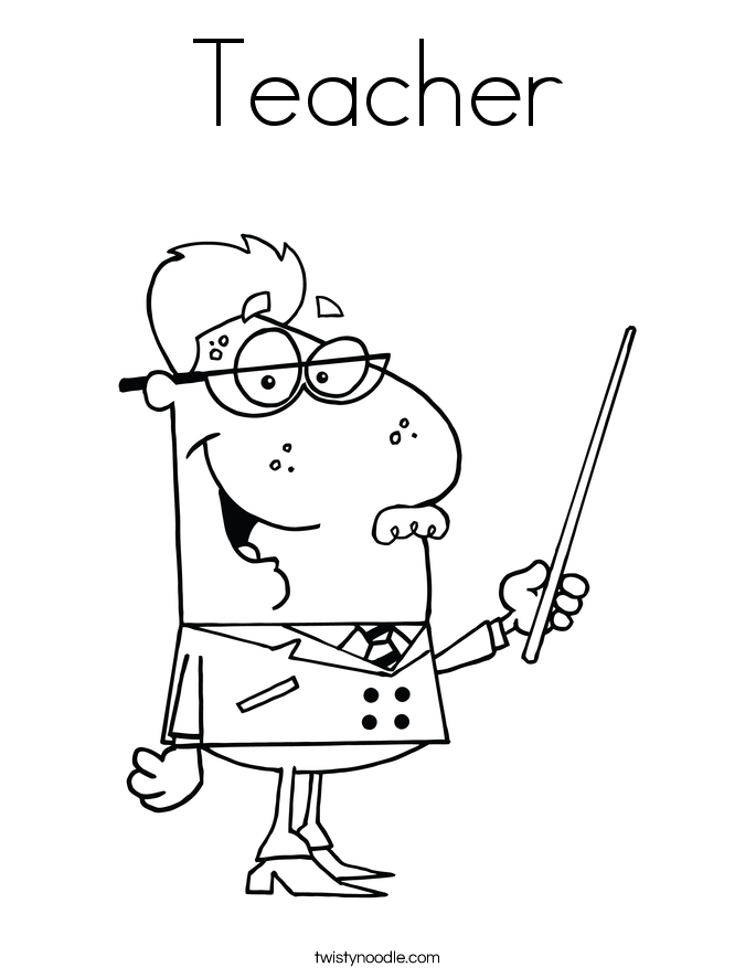 coloring pages of teachers - photo#17