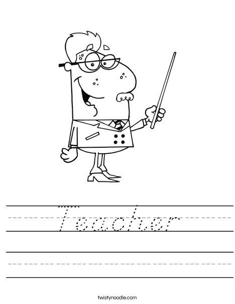 Teacher Worksheet