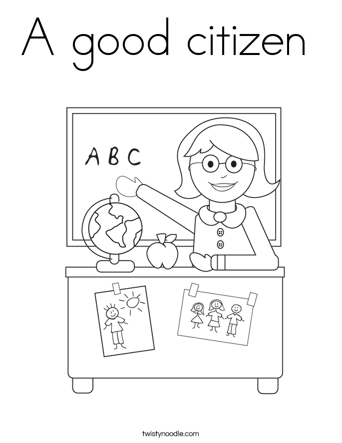citizenship coloring pages - photo#4