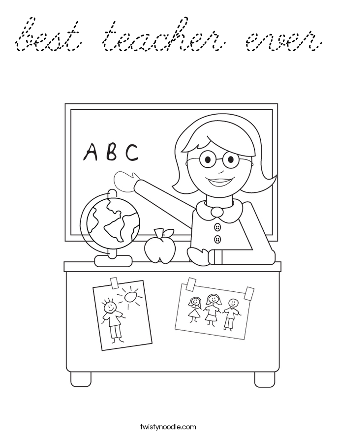best teacher ever coloring pages | 301 Moved Permanently