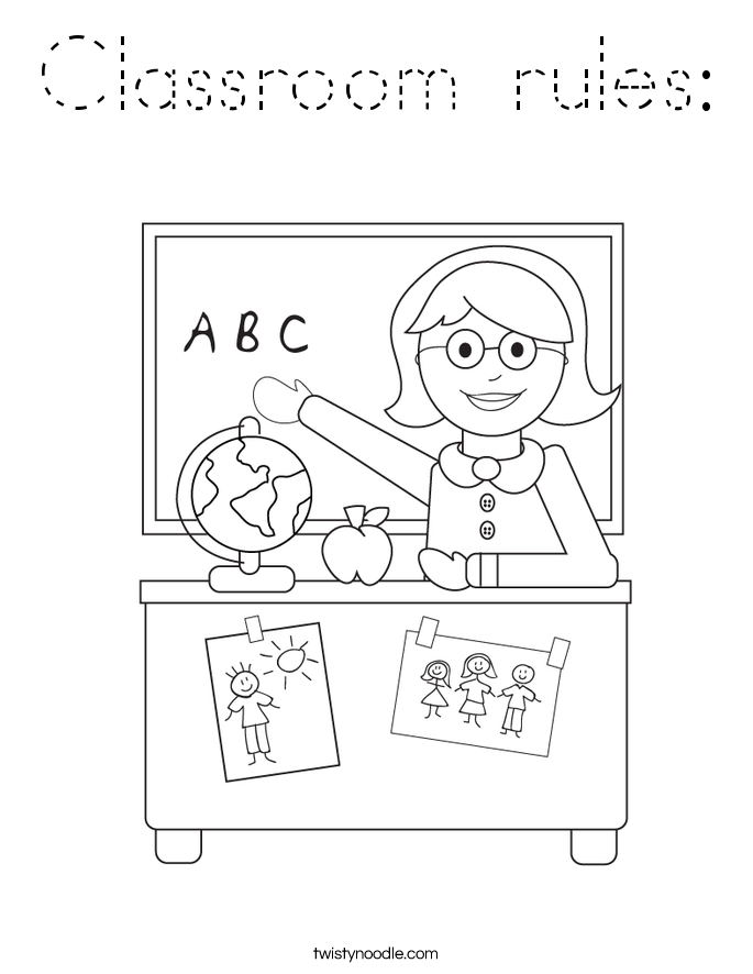 Classroom rules: Coloring Page