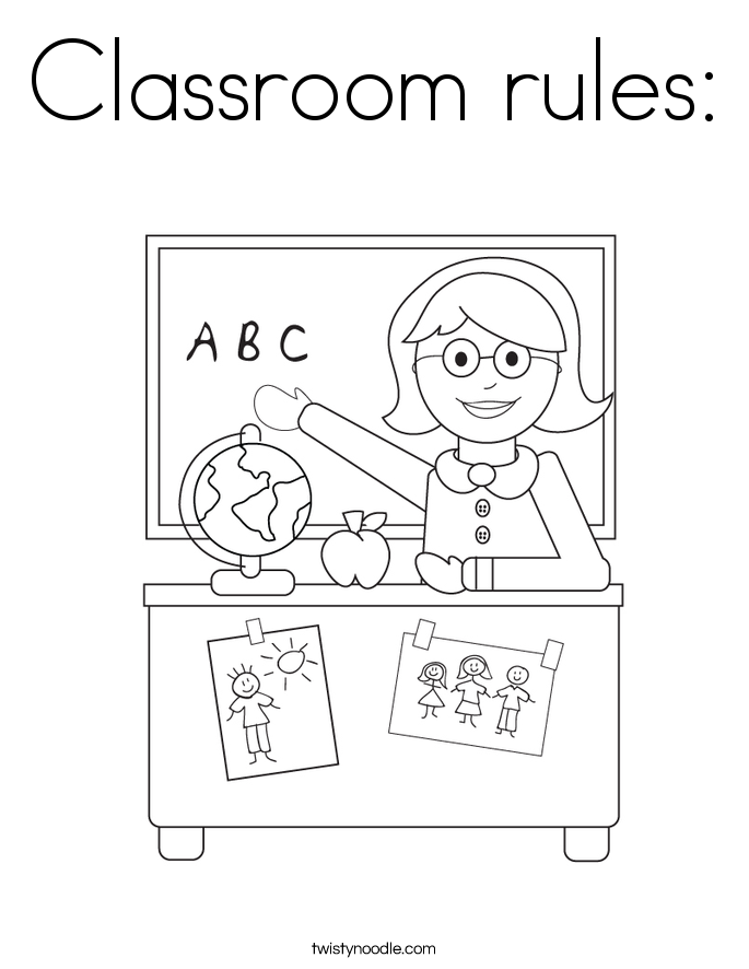 classroom behavior coloring pages - photo#3