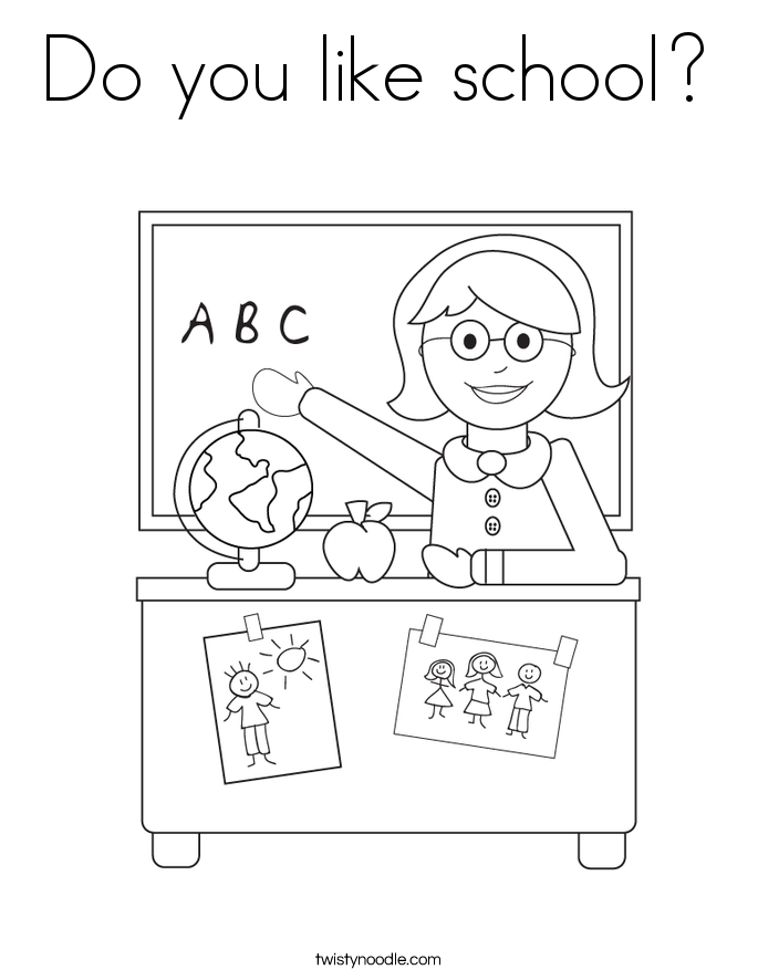 Do you like school? Coloring Page