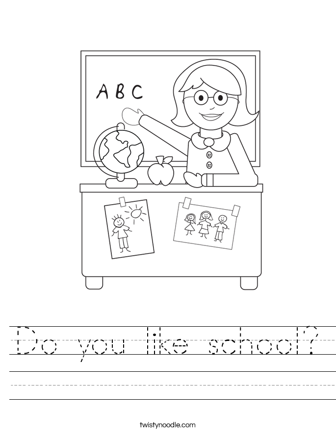 Do you like school? Worksheet
