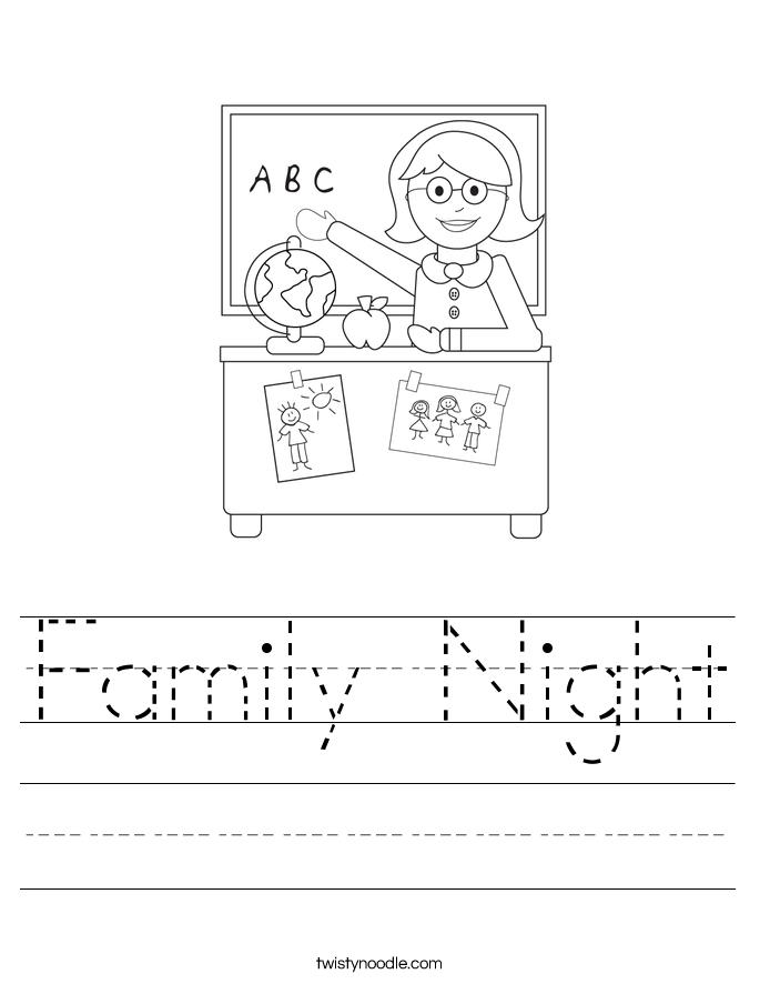 Family Night Worksheet