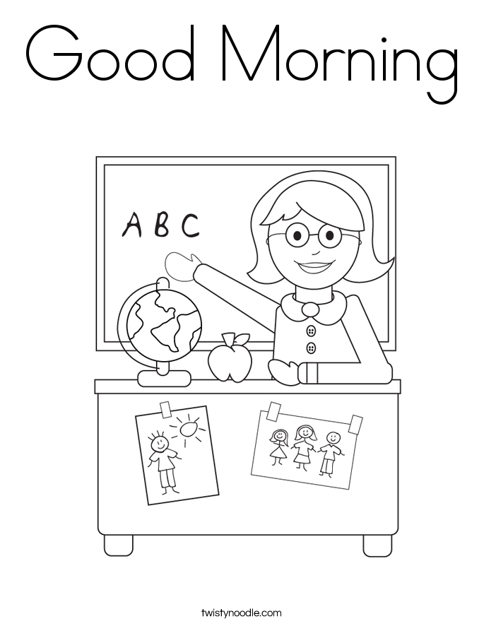 Good Morning Coloring Page