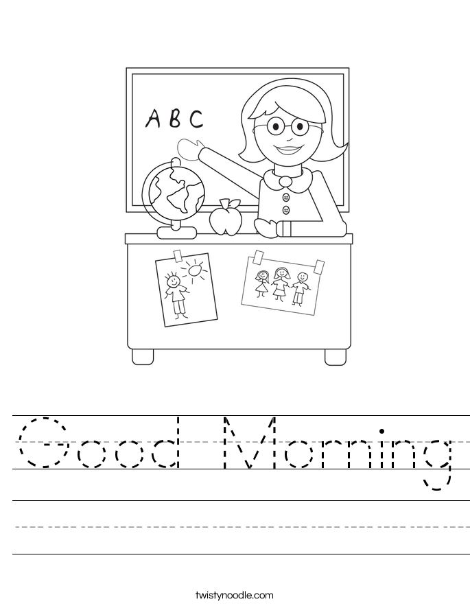 Good Morning Worksheet