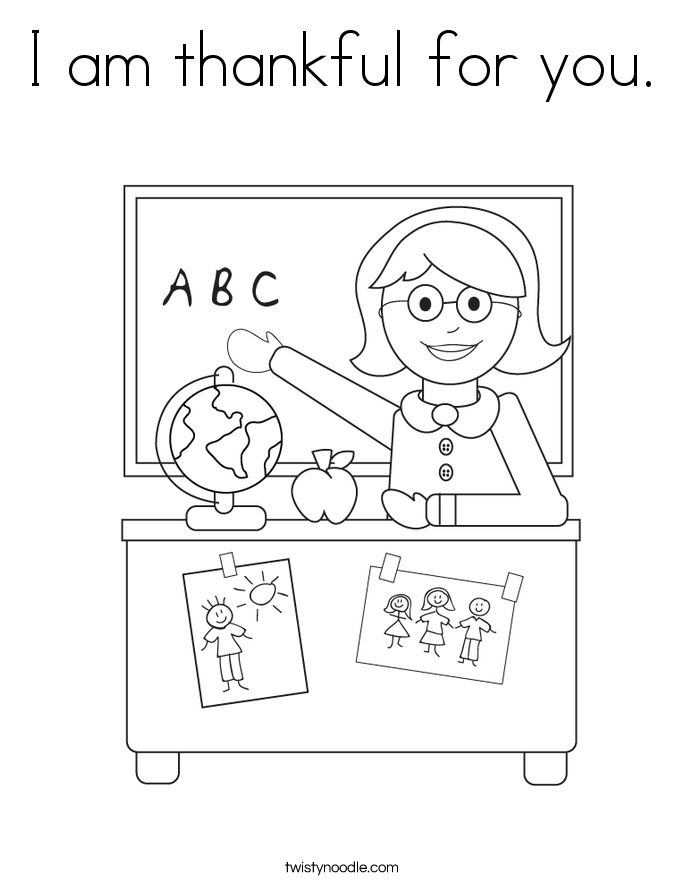 i am thankful for you coloring pages - photo #5