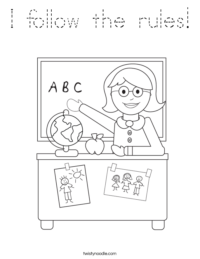 I follow the rules! Coloring Page