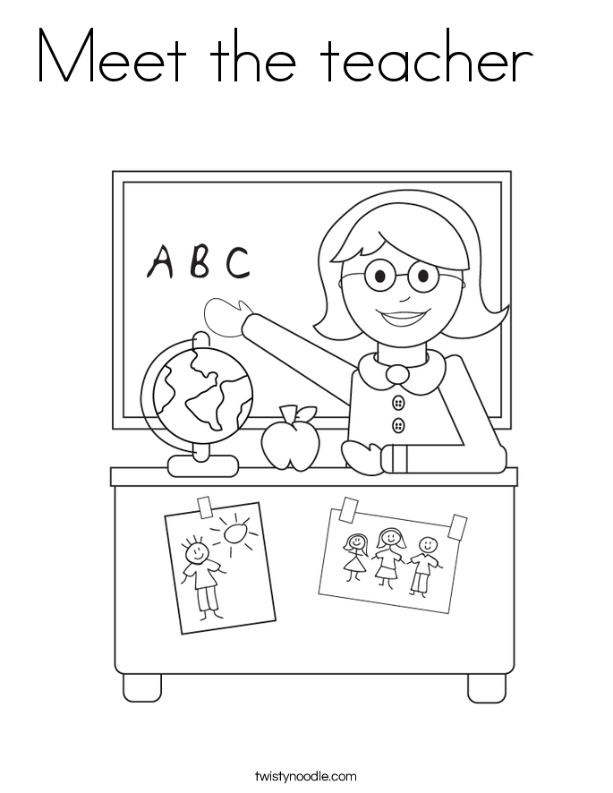 Meet the teacher   Coloring Page