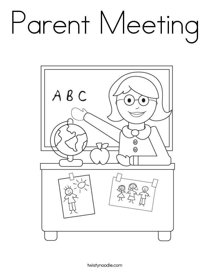 Parent Meeting Coloring Page