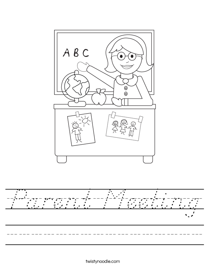 Parent Meeting Worksheet