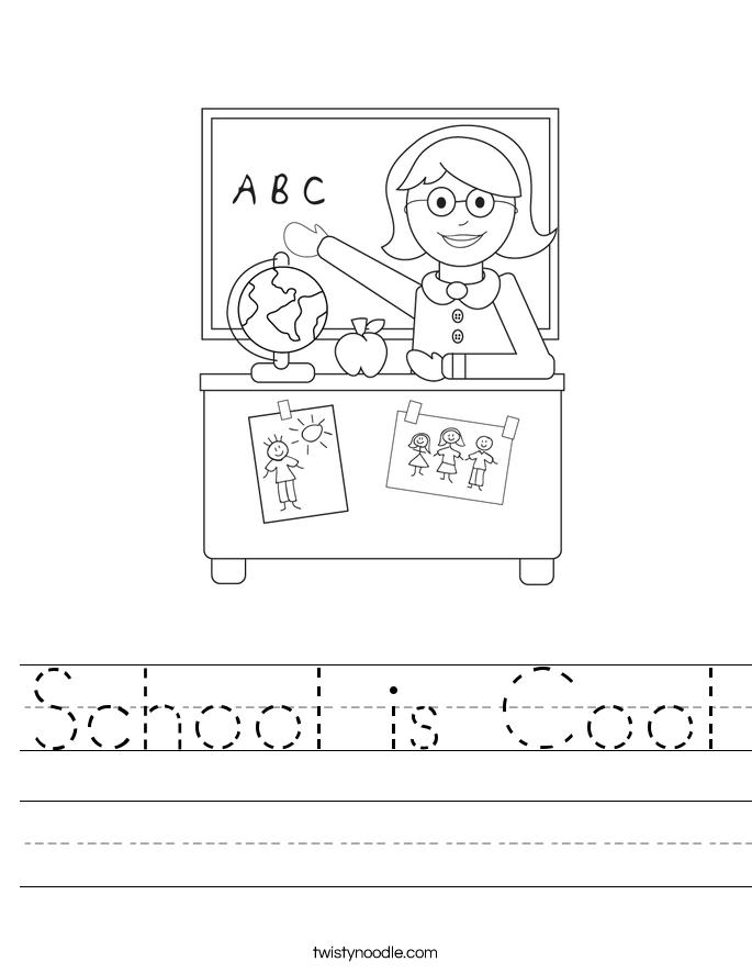 School is Cool Worksheet