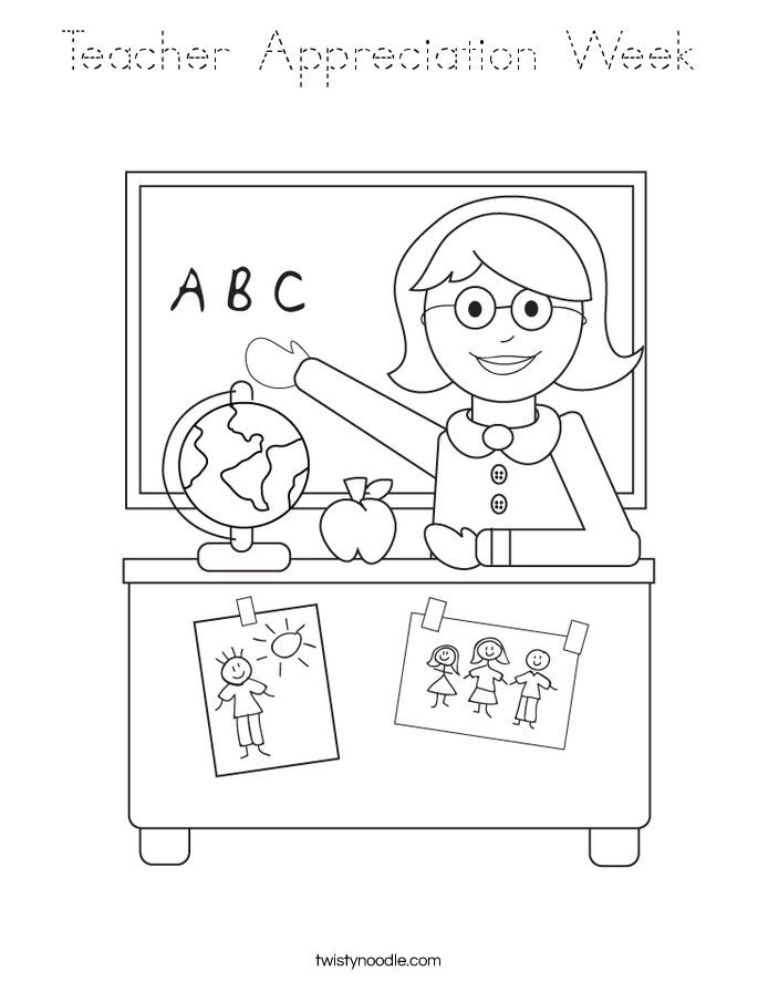 Teacher Appreciation Week Coloring Page