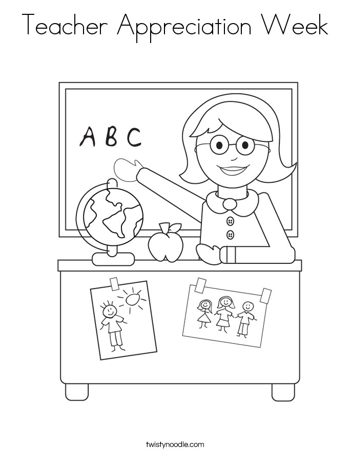 Teacher Appreciation Week Coloring Page