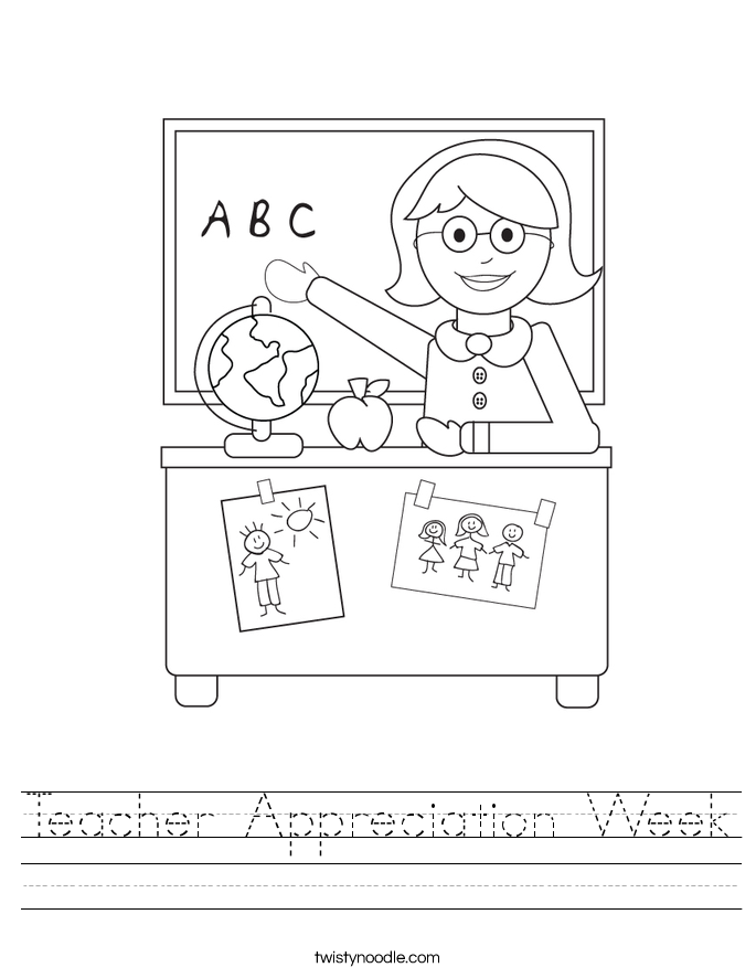 Teacher Appreciation Week Worksheet