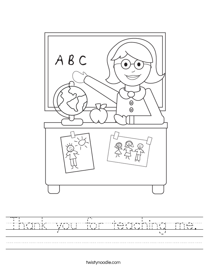 Thank you for teaching me. Worksheet