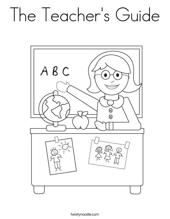 The Teacher's Guide Coloring Page
