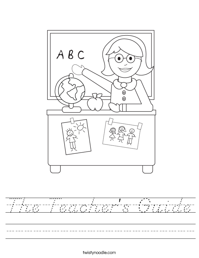 The Teacher's Guide Worksheet