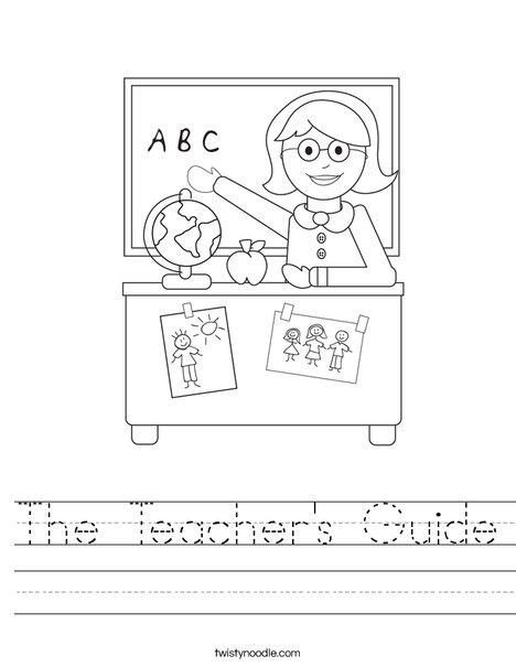 Teacher Sitting Worksheet
