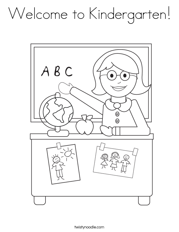 Perfect Welcome To Kindergarten! Coloring Page.