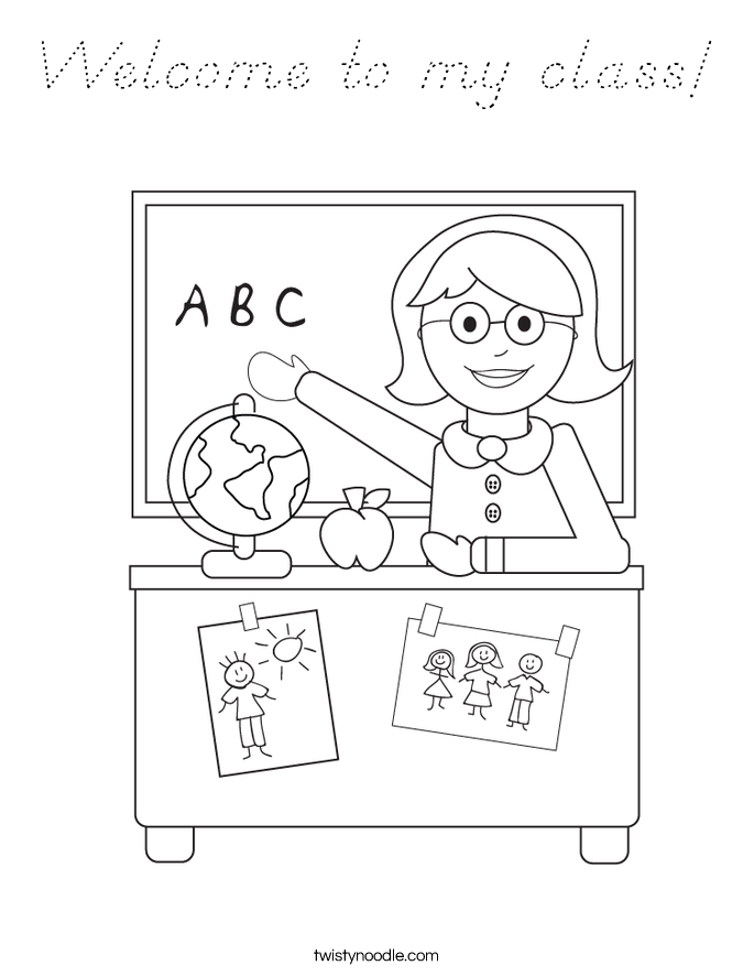 Teacher Appreciation Coloring Page | Projects In Parenting |My Classroom Coloring Pages