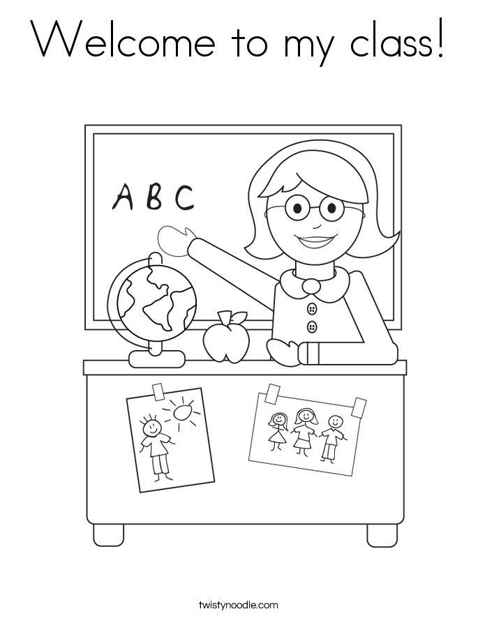 Welcome to my class! Coloring Page