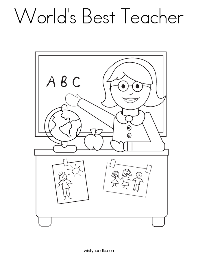 Worldu0027s Best Teacher Coloring Page