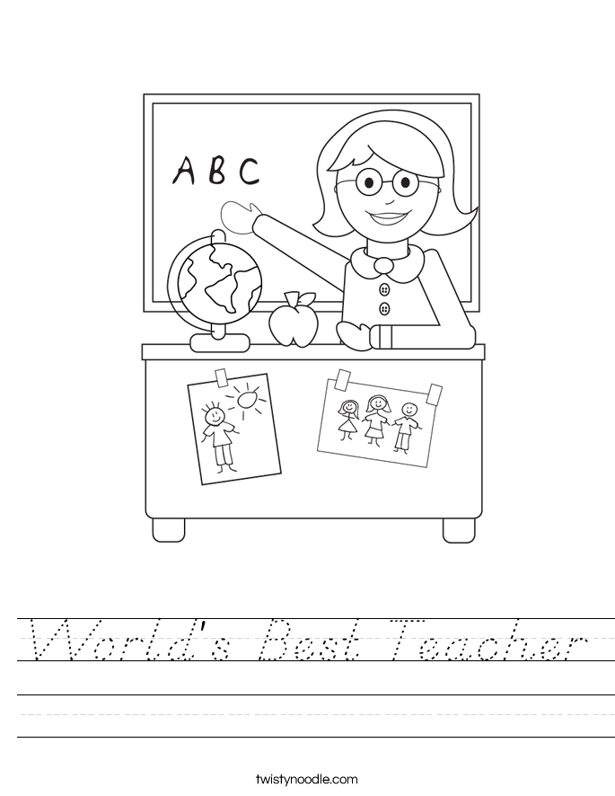 World's Best Teacher Worksheet