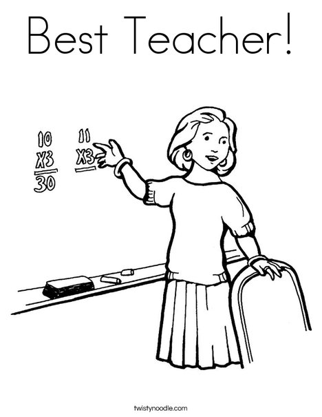Best Teacher Coloring Page