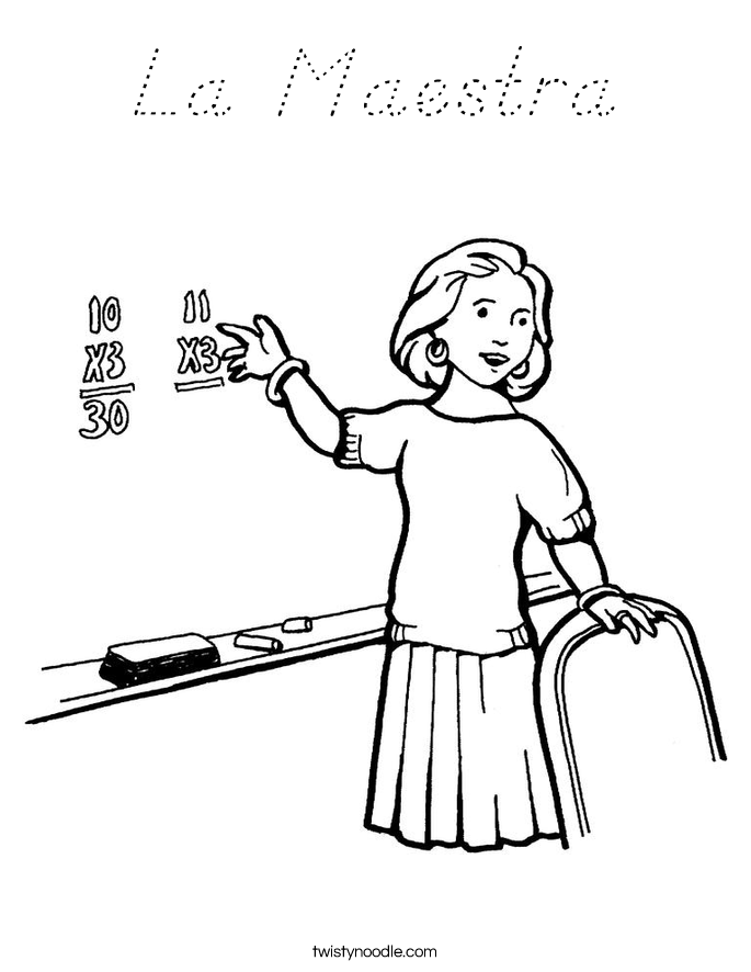 La Maestra Coloring Page