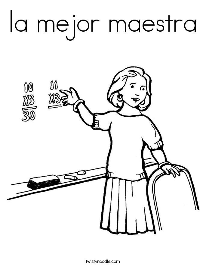 la mejor maestra Coloring Page