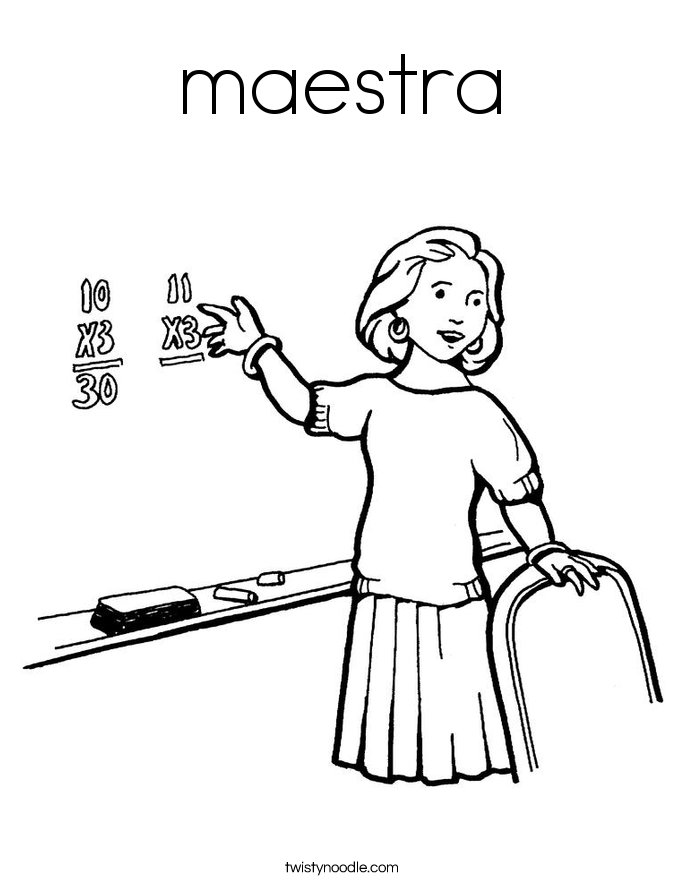 maestra Coloring Page