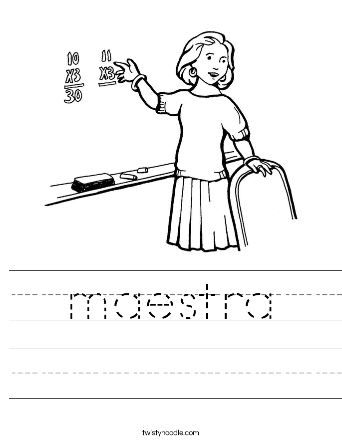 maestra Worksheet