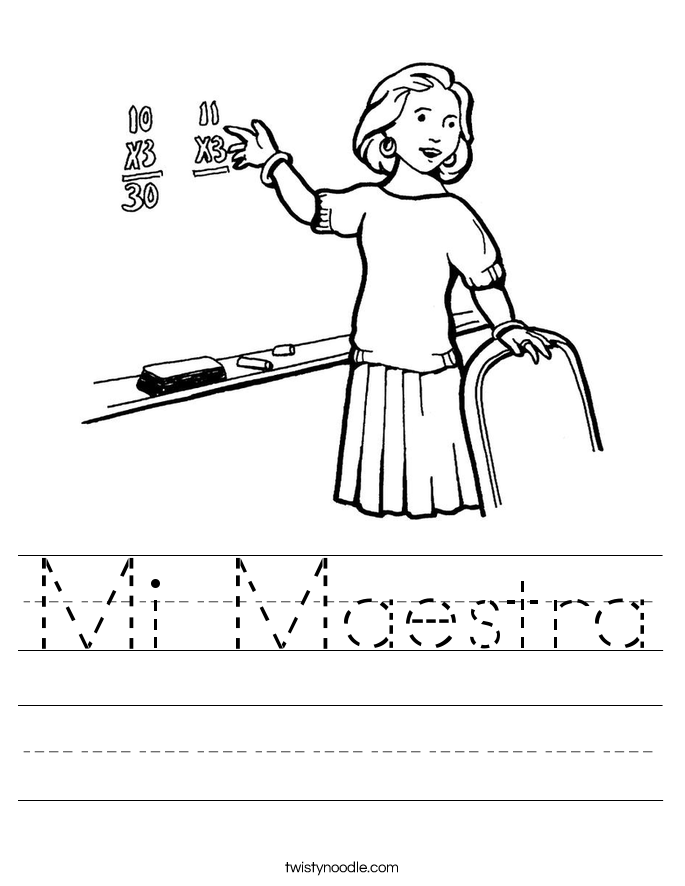 Mi Maestra Worksheet